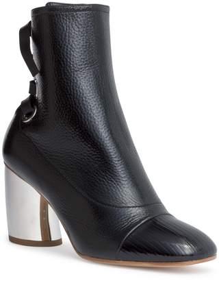 Proenza Schouler Black leather 70 eyelet boots