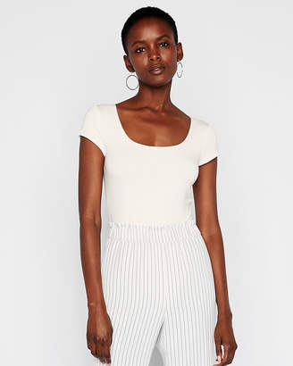 Express Square Neck Cap Sleeve Bodysuit