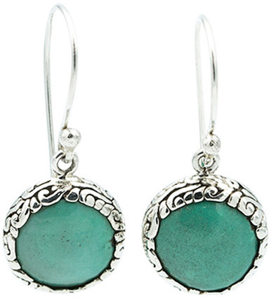 Exex Design Jewelry Sterling Silver Belleair Beach Turquoise Earrings