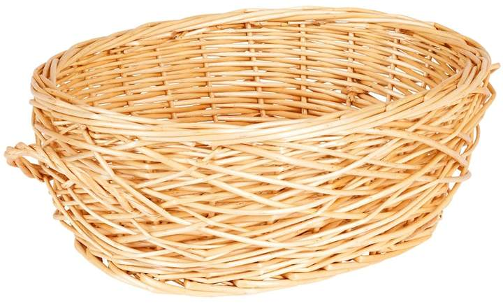 Spring Bird Nest Willow Oval Basket