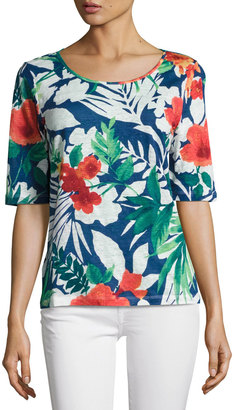 Tommy Bahama Victoria Blooms Jersey Tee, Multi $49 thestylecure.com