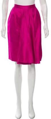 Christian Dior Gathered Knee-Length Skirt
