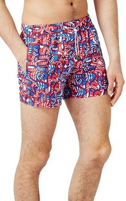 Men's Topman Usa Print Swim Trunks $40 thestylecure.com