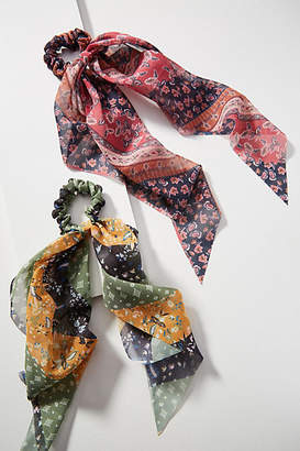 Anthropologie Mitsy Scarf Ponytail Holder Set