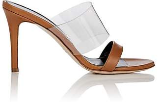 Barneys New York Women's Leather & PVC Mules - Beige, Tan