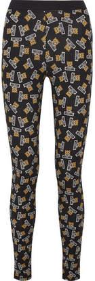 Moschino Printed Stretch-cotton Jersey Leggings