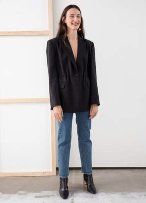 And other stories Gathered Square Shoulder Blazer
