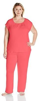 Arabella Women's Plus Size Sleeveless Pajama Set