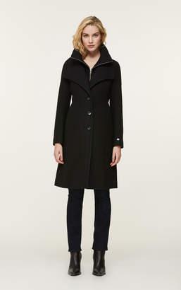 Soia & Kyo KIKKY novelty wool coat with bib collar