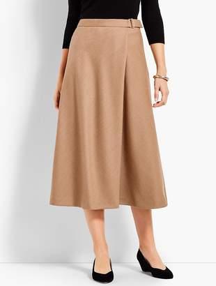 Talbots Italian Flannel Faux-Wrap Skirt