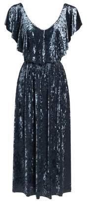 NSR Crushed Velvet Midi Dress
