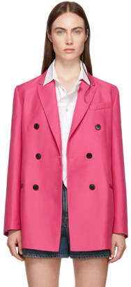 Valentino Pink Double-Breasted Blazer