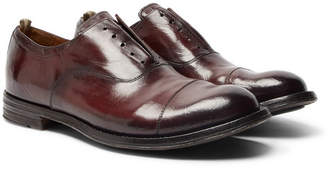 Officine Creative Anatomia Cap-Toe Polished-Leather Derby Shoes