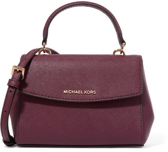 MICHAEL Michael Kors - Ava Mini Textured-leather Shoulder Bag - Plum $178 thestylecure.com