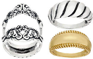 Carolyn Pollack Sterling & Brass SignatureDesign Ring Set