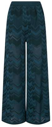 M Missoni Zig Zag Knit Cropped Trousers