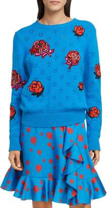 Kenzo Floral Patch Sweater