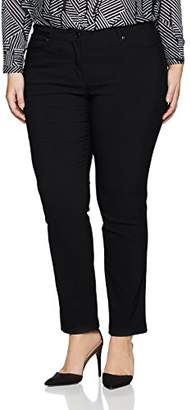 GINA LAURA Women's's GL_ 4 Pocket_ K Länge Trousers, Black (Schwarz )