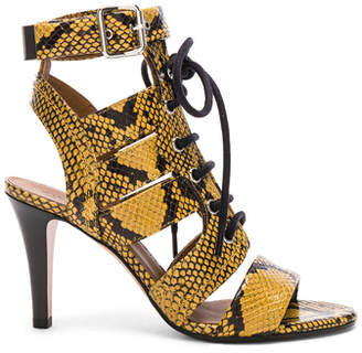 Chloé Rylee Python Print Leather Lace Up Sandals