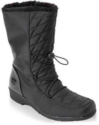 totes Black Polly Snow Boots $65 thestylecure.com