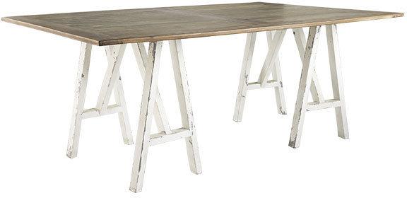 Sawhorse Leg Table