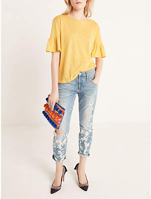 AND/OR Venice Beach Relaxed Boyfriend Fit Jeans, Beach Bleach