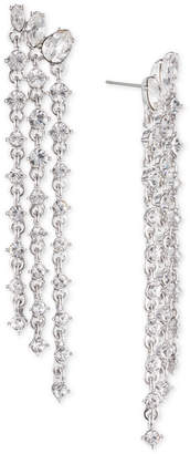 Givenchy Crystal Fringe Linear Drop Earrings