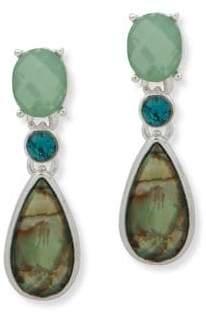 Anne Klein Crystal Faceted Teardrop Earrings