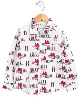 Rachel Riley Boys' Queens Guards Button-Up Shirt