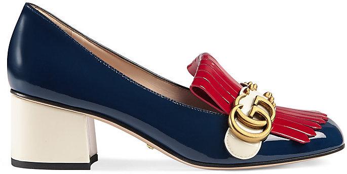 Gucci Women's Marmont Patent Leather Pumps