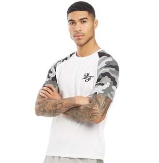7d505802 Loyalty And Faith Mens Vendor Camo Print Raglan T-Shirt White