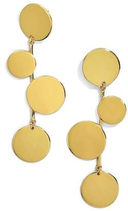 BaubleBar Rona Alternating Disc Statement Earrings