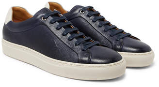 HUGO BOSS Mirage Full-grain Leather Sneakers - Navy