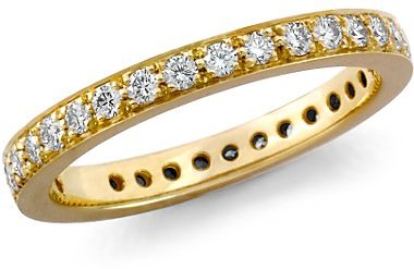 Pavé-Set Diamond Eternity Ring in 18k Gold (1/2 ct. tw.)
