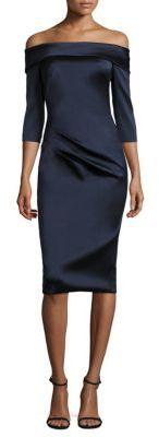 Theia Off-the-Shoulder Dress $495 thestylecure.com