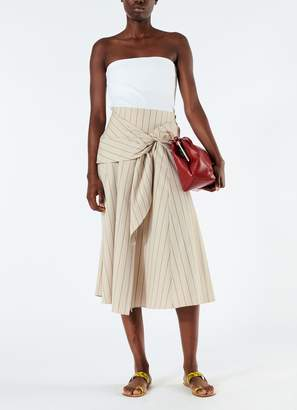 Tibi Tropical Wool Wrap Skirt