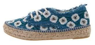 Loeffler Randall Alfie Embroidered Espadrilles w/ Tags
