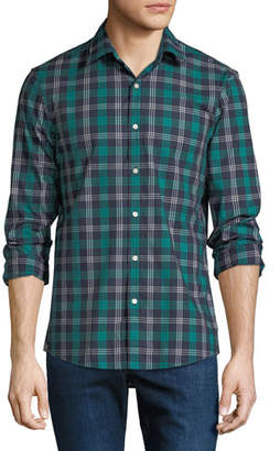 Michael Kors Men's Plaid Stretch Cotton Button-Down Shirt