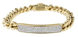 David Yurman Diamond ID Bracelet $3,995 thestylecure.com