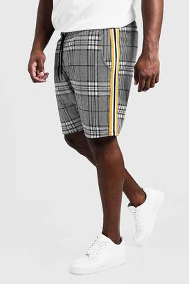 boohoo Big & Tall MAN Signature Check Short
