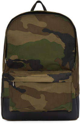 A.P.C. Khaki Camo Mickael Backpack