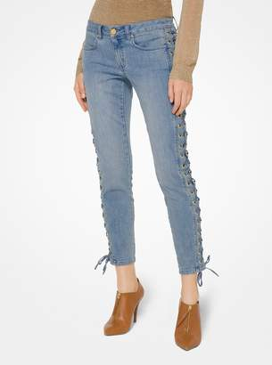 MICHAEL Michael Kors Lace-Up Skinny Jeans
