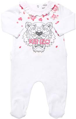 Kenzo TIGER PRINT COTTON INTERLOCK ROMPER
