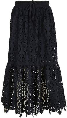See by Chloe Long Skirt In Lace
