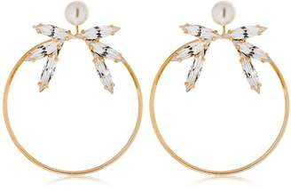 Anton Heunis Didah Hoop Pendant Earrings