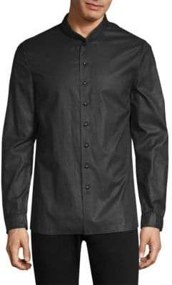John Varvatos Layered Collar Button-Down Shirt