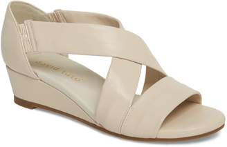 David Tate Swell Cross Strap Wedge Sandal