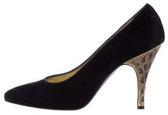 Bruno Magli Velvet High Heel Pumps