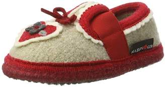 Haflinger Girls' Herz Hi-Top Slippers,11.5UK Child