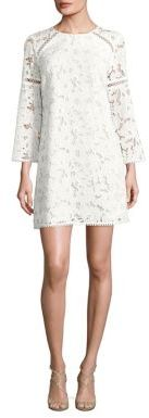Shoshanna Long Sleeved Floral Lace Dress $395 thestylecure.com